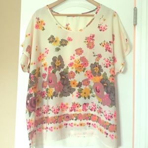 Gorgeous Floral Woven Flowy Top