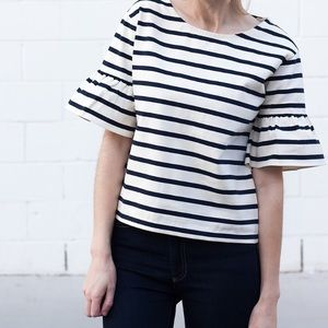 J. Crew Tops - J.Crew ruffle sleep top