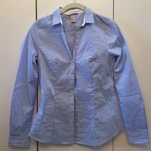 H&M Blue and White Button Down