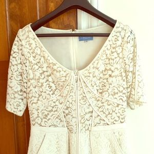 J. Mendel Dresses & Skirts - J MENDEL short sleeve white lace dress 8