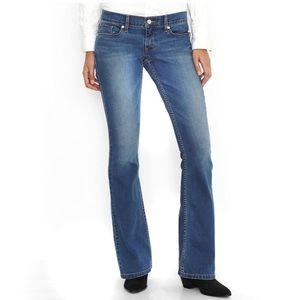 New Levi's 524 Bootcut Jeans 0M/24 Medium Wash