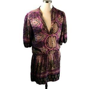 ANGIE  Boho Festival Spangled Mini Dress Tunic Top