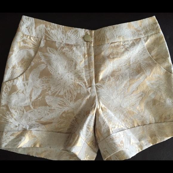 490ada9c166f New Ted Baker Gold Jaquard Shorts. M 5766db7b4127d040a6006784
