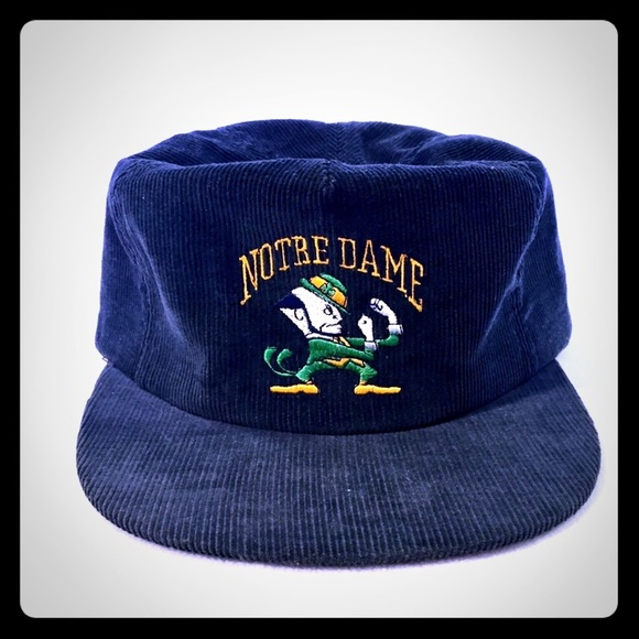 Notre Dame Irish NCAA Vintage Snapback Cap Hat Navy Green