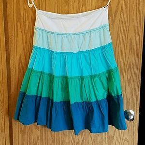 Billabong Tiered Broom Skirt sz 9