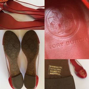 Tory Burch Shoes - Tory Burch Audrey Red Patent & Clear Ballet Flats