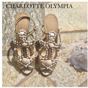 Charlotte Olympia Shoes - 🎉HP 🎉 Charlotte Olympia Seashell Heel Sandals