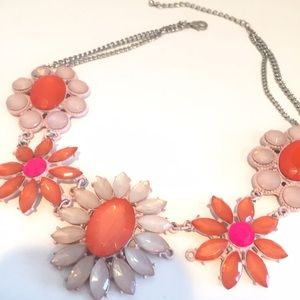 Anthropologie Jewelry - Colorful Gem Flower Statement Necklace