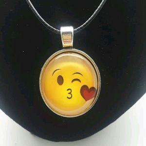 Jewelry - Kissy Face Emoji Necklace