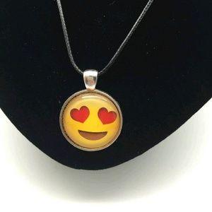 Jewelry - Heart Eyes Emoji Necklace