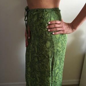 Betsey Johnson Vintage phyton skirt