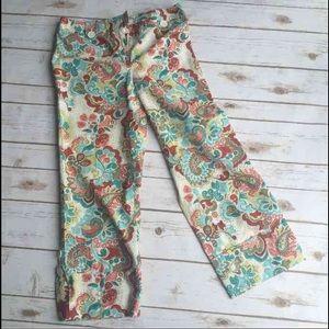 ANN TAYLOR LOFT Floral Cropped Pants