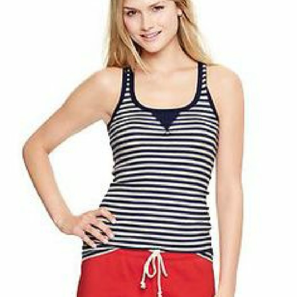 ecff3ab5514642  10 TOP SALE - GAP Ribbed Striped Tank Top NWT L