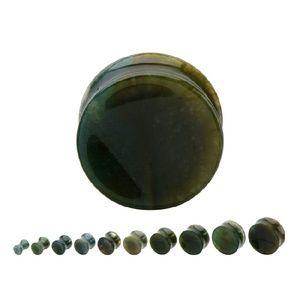 Jewelry - Double Flare Moss Agate Saddle Plug