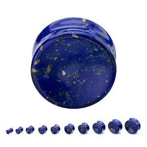 Jewelry - Double Flare Lapis Lazuli Saddle Plug