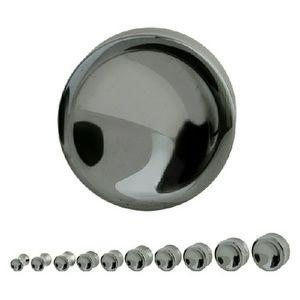 Jewelry - Double Flare Hematite Saddle Plug