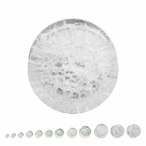 Jewelry - Double Flare Clear Cracked Stone Plug