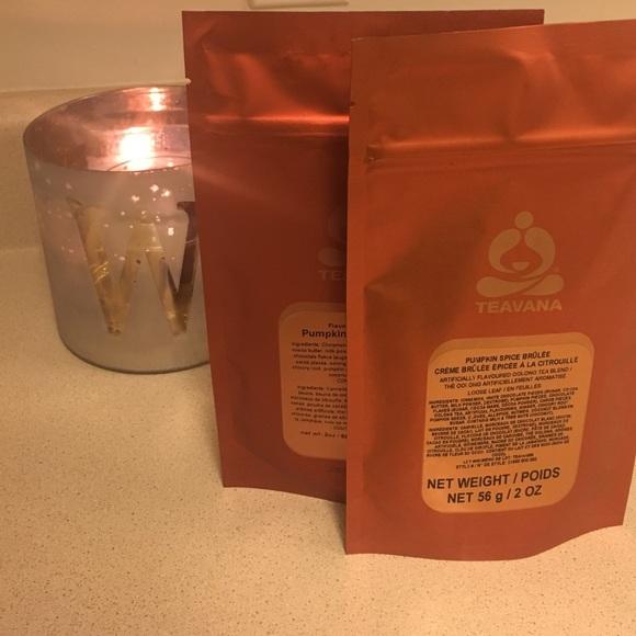 2 NEW UNOPENED Pumpkin Spice Brûlée Teavana