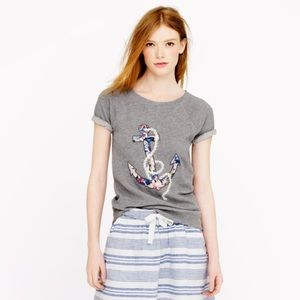 J. Crew Tops - Adorable J. Crew Floral Anchor Top