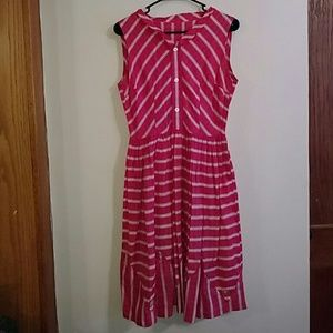 Vintage 1960's Pink and White Dress by Osgood