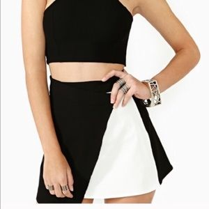Nasty Gal White Out of Bounds Skirt
