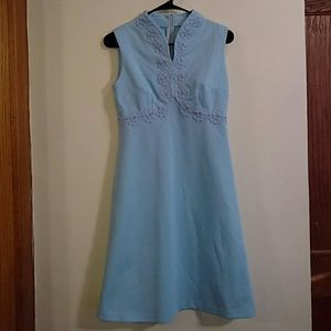 Vintage 1960's Sleeveless Robens egg Blue Dress