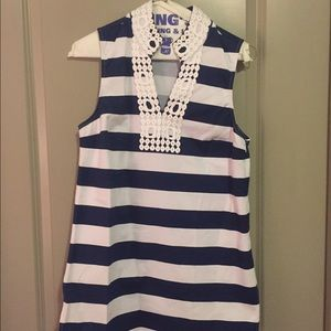 MudPie navy & white tunic