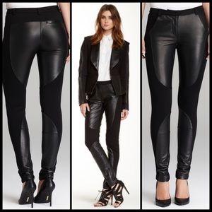 REBECCA MINKOFF ♠️ Telescope Leather & Ponte Pants