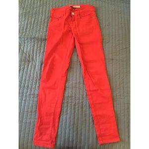 Classic Red Denim Jeans (Pants) - US 2/EUR 34