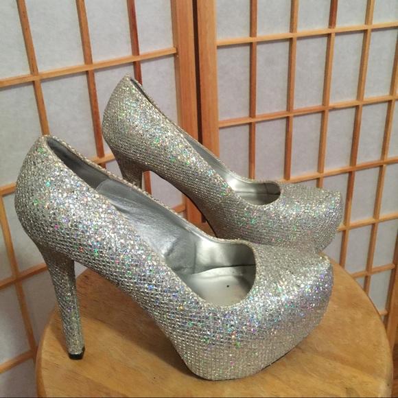 b51e8d5f9e Charlotte Russe Shoes   Platform Rhinestone Heels Wedding   Poshmark
