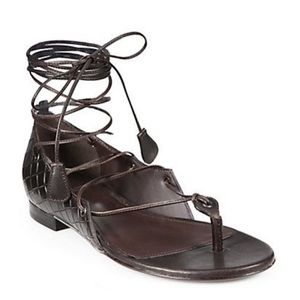 "Bottega Veneta Shoes - Bottega Veneta ""Cuir Intrecciomirage"" gladiator"
