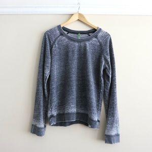 HAPPY 4th SALE Grey Honeydew space dye sweatshirt
