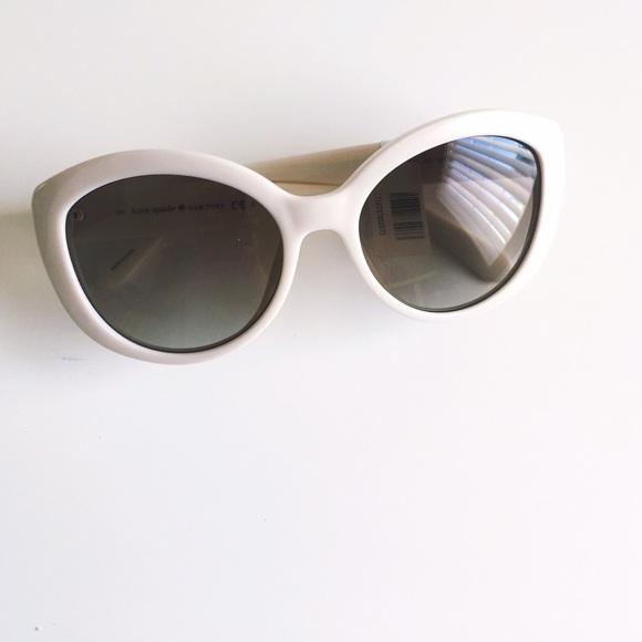 8d8edfc0a3be9 White  Sherrie  Kate Spade cat eye glasses.
