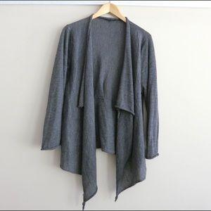Grey Eileen Fisher cardigan