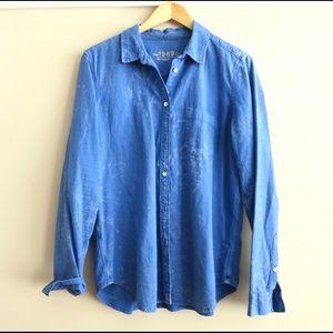 HAPPY 4th SALE Tie dye Gap chambray shirt