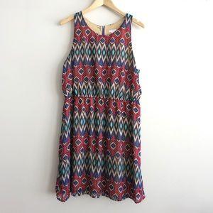 SUPER SALE Navajo print silk Xhilaration dress