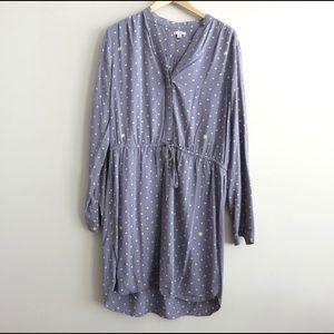 SUPER SALE Grey and neon Gap shirt dress