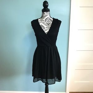 Dresses & Skirts - Black Eyelet Lace Dress