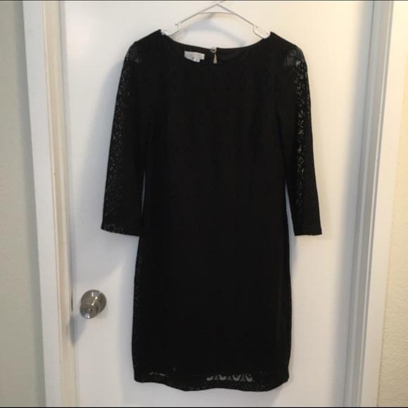 London times black lace dress