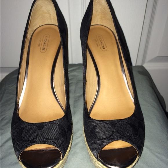 54 coach shoes coach high heel peek a boo shoes