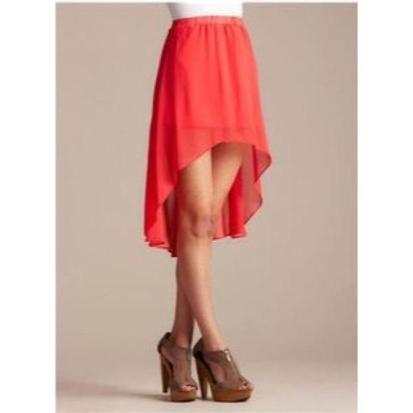 77 rubbish dresses skirts orange high low skirt