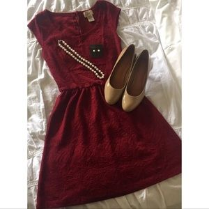 Dresses & Skirts - Kohl's Eyelash Couture red fit & flare dress XS