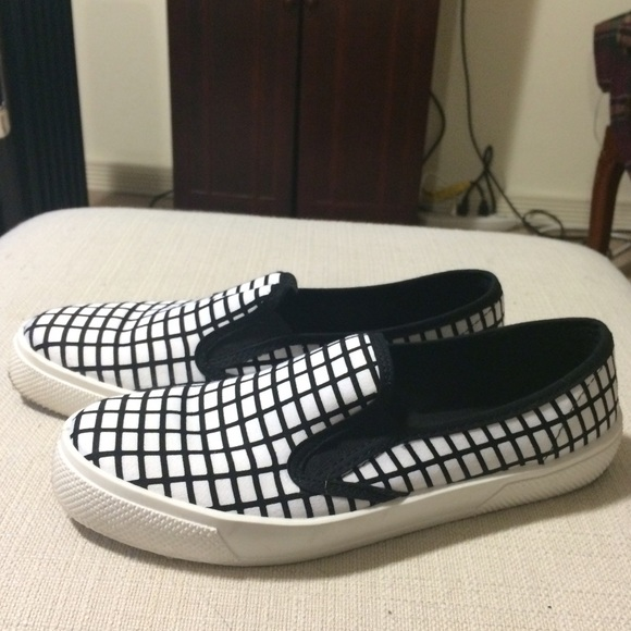ASOS Shoes - Grid print slip ons