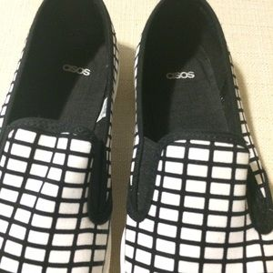 ASOS Shoes - Grid print slip ons