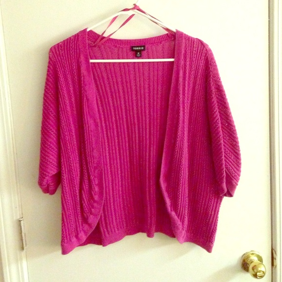 57% off torrid Sweaters - Hot pink torrid shrug sweater from ...