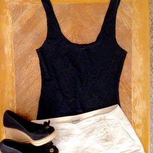 Aritzia Tops - Aritzia Talula Black Stretch Lace Tank Top