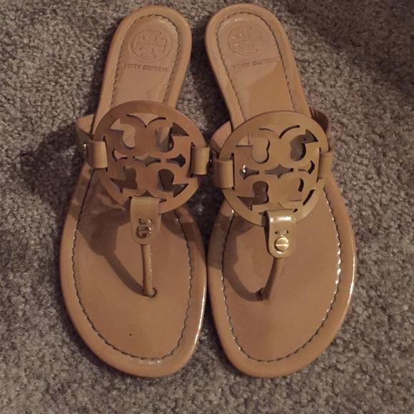 65b4fcfa9c66 Tory burch Miller sand patent sandals 8. M 57679347981829922204e22f