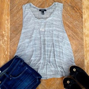 Forever 21 Tops - Forever 21 Gray Heathered Muscle Tank Top