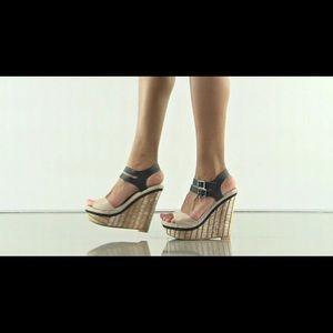 Mia Strut Wedge Sandal