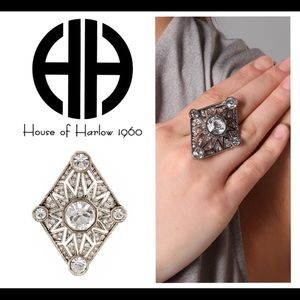 House of Harlow 1960 4 Point Ring Size 6 NWT